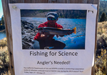 Fishing for Science on Heenan Lake California.