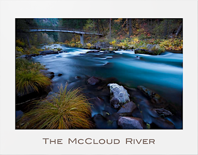McCloud River Poster photograph by Michael Carl