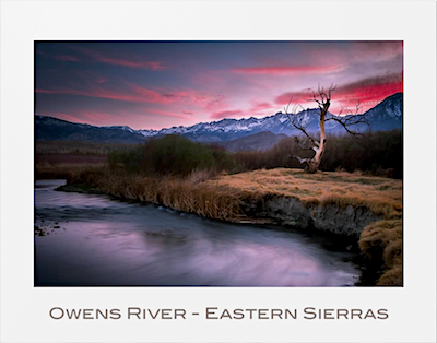 Owens River Eastern Sierras Poster photograph by Michael Carl