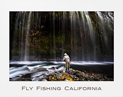Fly Fishing California Poster photographed by Michael Carl