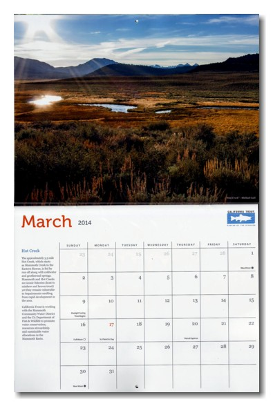 California Trout 2014 Calendar Hot Creek Photo by Michael Carl