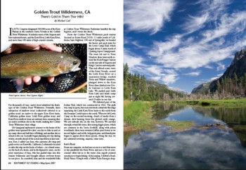 Southwest Fly Fishing Article featuring Golden Trout Wilderness and Kern River Rainbow