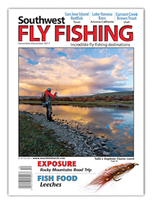 Southwest Fly Fishing Magazine November December 2017 Cover